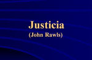Justicia Rawls