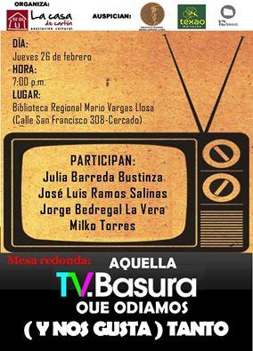 Conversatorio TV Basura afiche