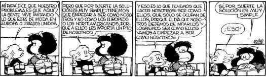 Pensamiento propio, Mafalda