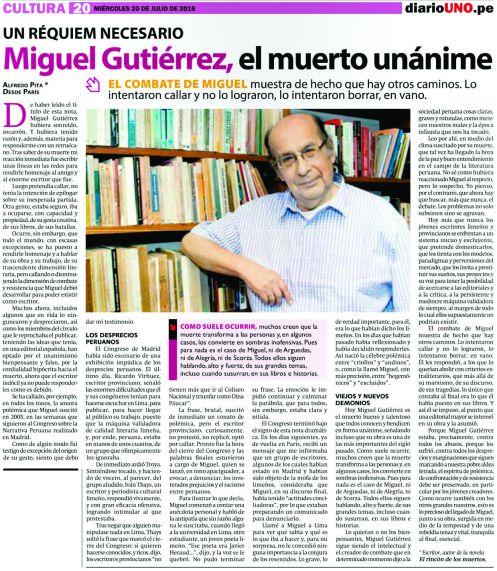 Miguel Gutiérrez, el muerto unánime